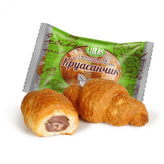 Круасанчик з начинкой «какао-крем-горіх» ТМ Лукас 1,4 кг
